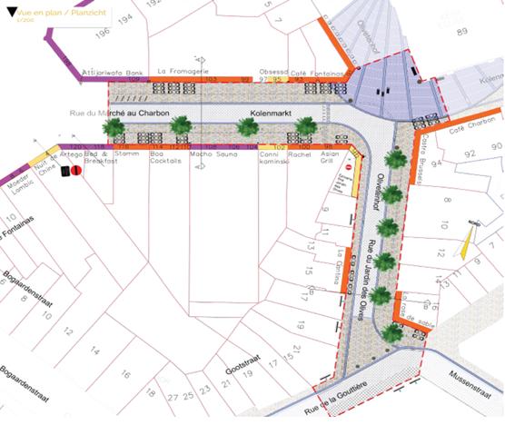 Plan rue du Marché au Charbon