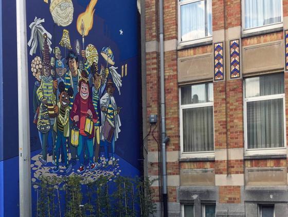New comic book wall of Tamara in Laeken