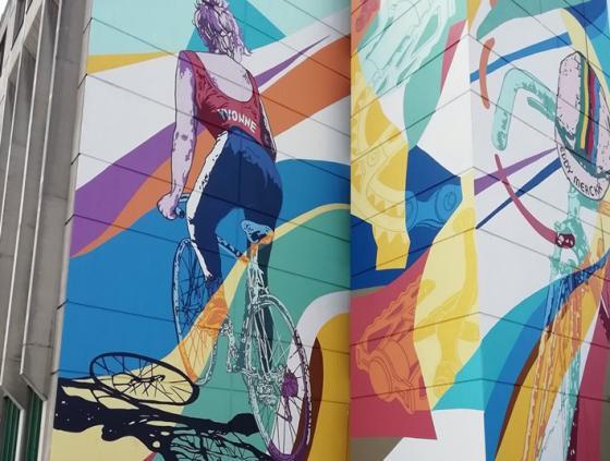 Tour de France street art wall