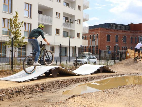 First 100% sustainable pump track in the City of Brussels