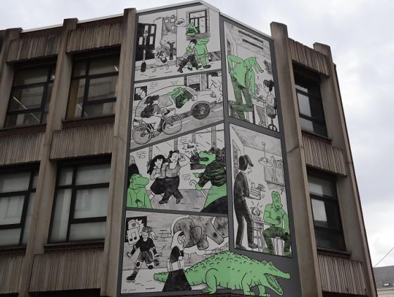 New 'Crocodiles' comic book wall