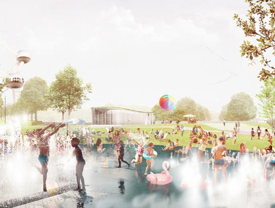 New sports park at the Heysel