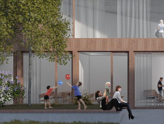 New school and passive housing at the Rue de la Senne