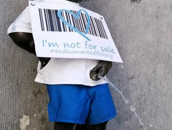 Manneken-Pis and the World Day Against Trafficking in Persons