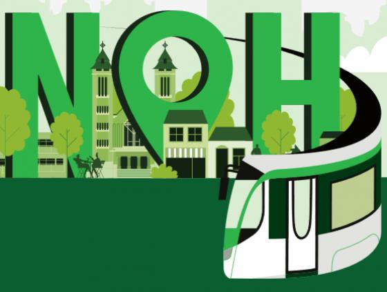 Meetings. A tram for Neder-Over-Heembeek