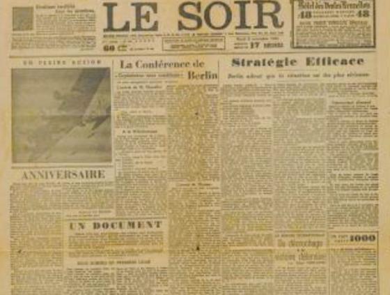 Newspaper 'Faux Soir' celebrates 75th anniversary