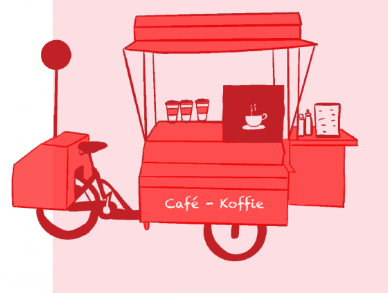 Public call. Six locations on the Food bike trail