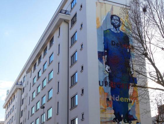 Street art wall commemorates Rwandan genocide