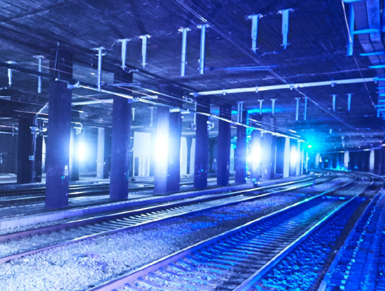 Works between the Brussels-Midi and Brussels-North stations