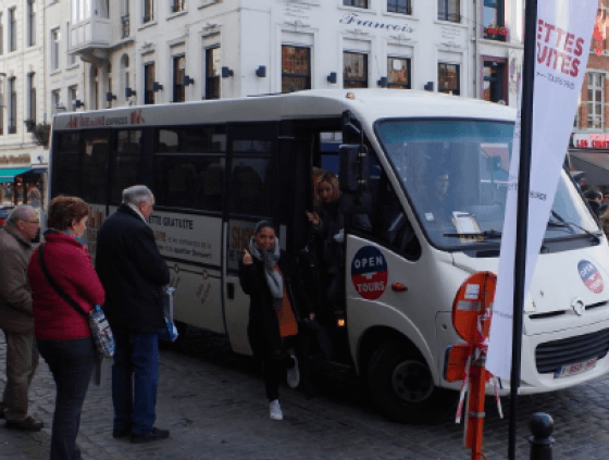 Free shuttle service between Foire du Livre, North Station and Sainte-Catherine