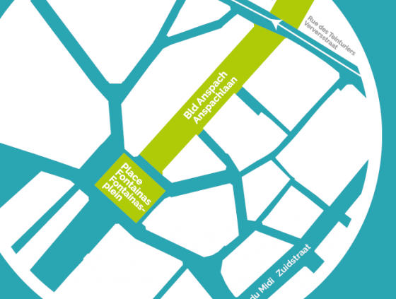 Traffic changes at the Boulevard Anspach