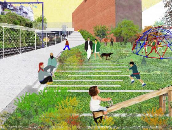 Pocket park 'La Terrasse' works