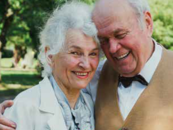 Renewal of wedding vows for seniors