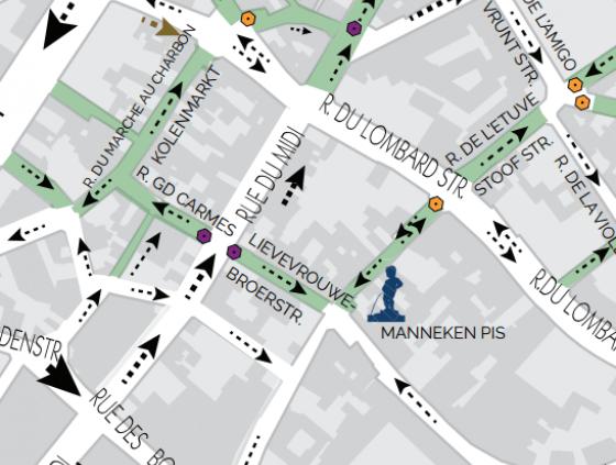 New access to the Rue du Midi and Rue des Grands Carmes pedestrian zone