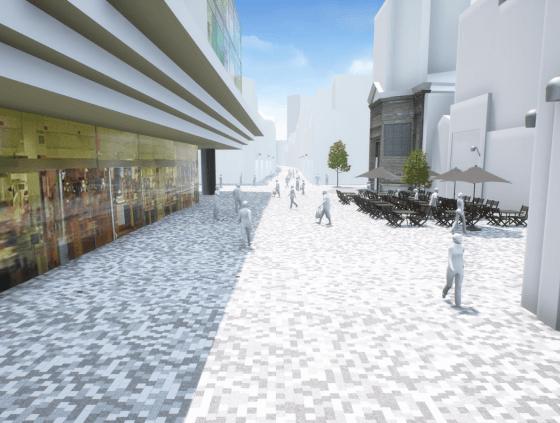 Reconstruction of the Rue Neuve
