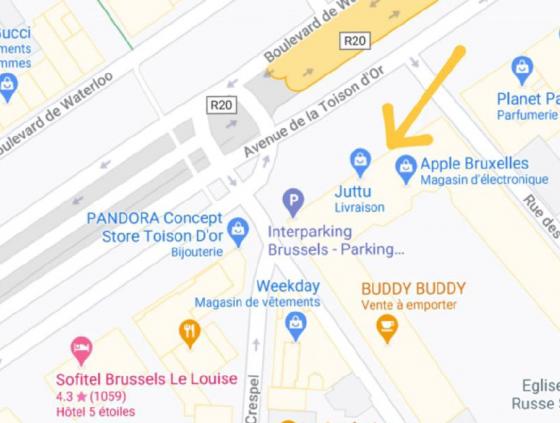 Public call. Permanent food bike location at the Avenue de la Toison d'Or