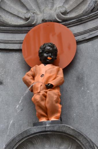 Manneken-Pis and Orange the World