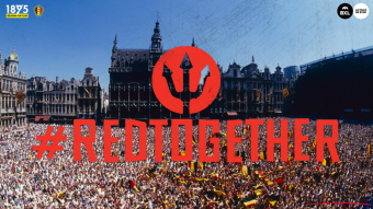 Honoring of the Red Devils in Brussels