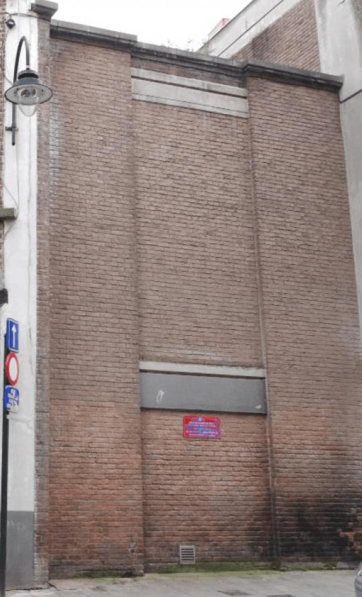 Wall of the Anneessens-Funck school