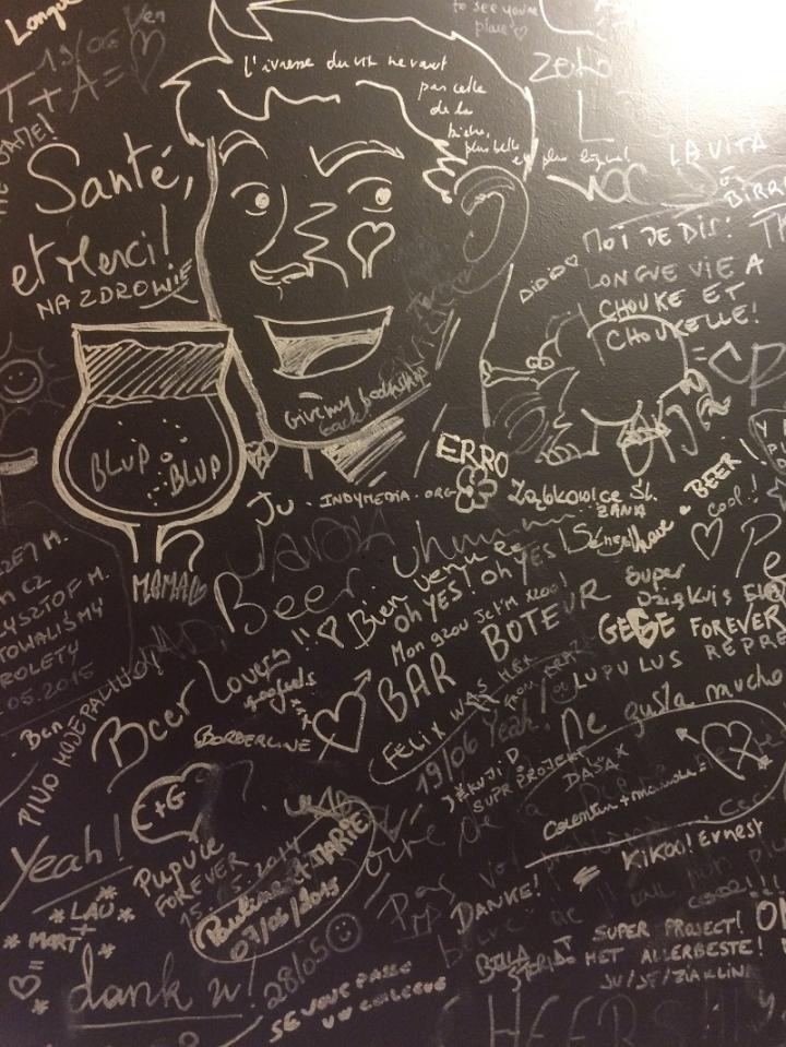Graffiti in toilets