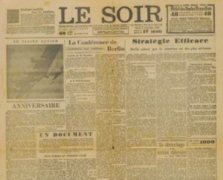 Newspaper 'Faux Soir' celebrates 75th anniversary