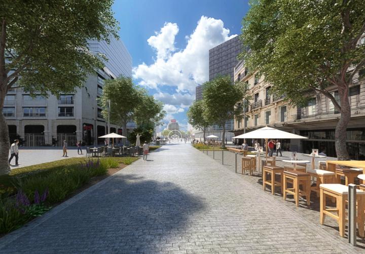 Future city centre in virtual reality