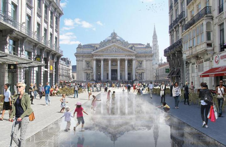 Works at the Place de la Bourse