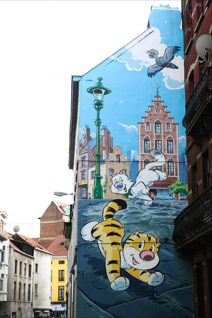 Comic Book Route City Of Brussels