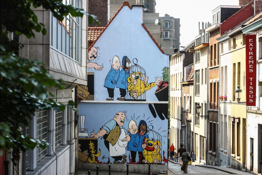 Blondin & cirage (Jijé) - Rue des Capucins