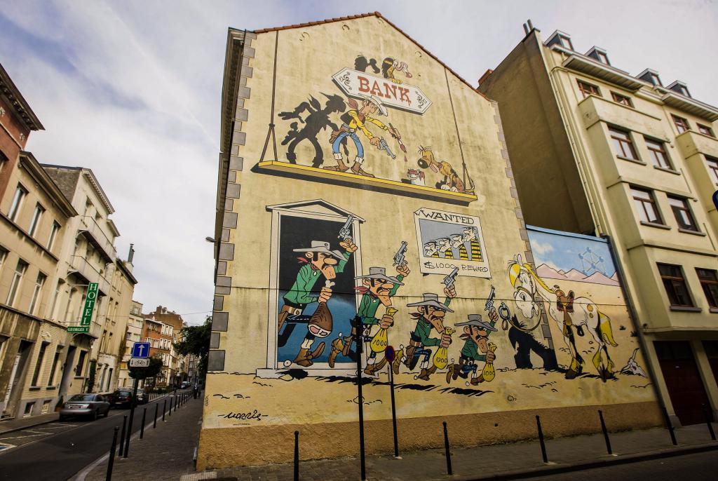 Lucky Luke (Morris) - Rue de la Buanderie