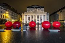 Brussels by Lights - Place de la Monnaie - click to enlarge