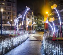 Brussels by Lights - Place Fontainas - click to enlarge