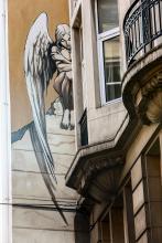 L'Ange de Sambre (Yslaire) - Rue des Chartreux - click to enlarge
