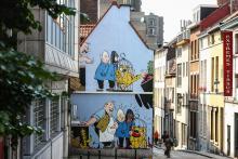 Blondin & cirage (Jijé) - Rue des Capucins - click to enlarge