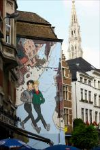 Broussaille (Frank Pé) - Rue du Marché aux Charbons - click to enlarge