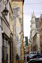 Le Passage (Schuiten) - Rue du Marché au Charbon - click to enlarge