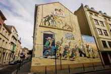 Lucky Luke (Morris) - Rue de la Buanderie - click to enlarge